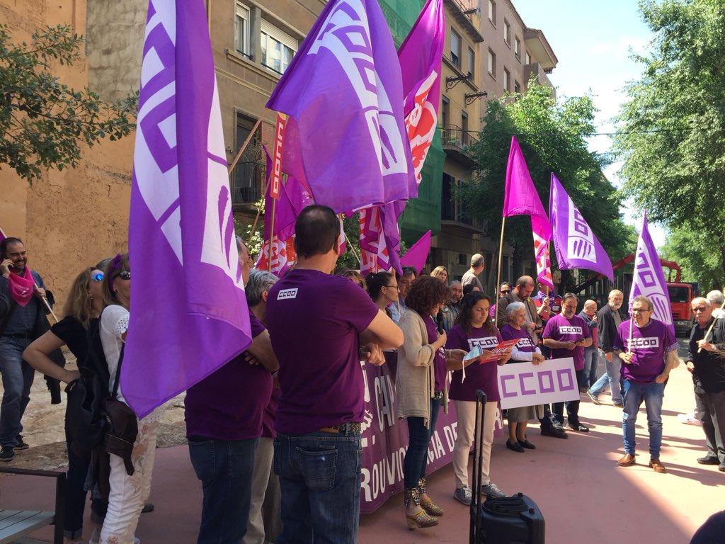 Manifestació dona treballadora