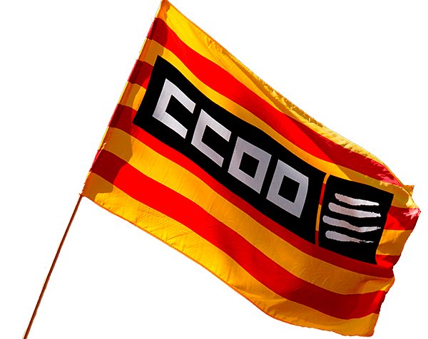 bandera ccoo catalunya